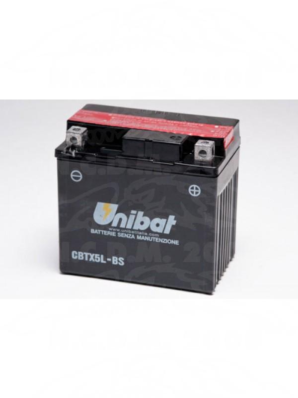 BATTERIA MOTO UNIBAT CBTX5L-BS =YTX5L-BS