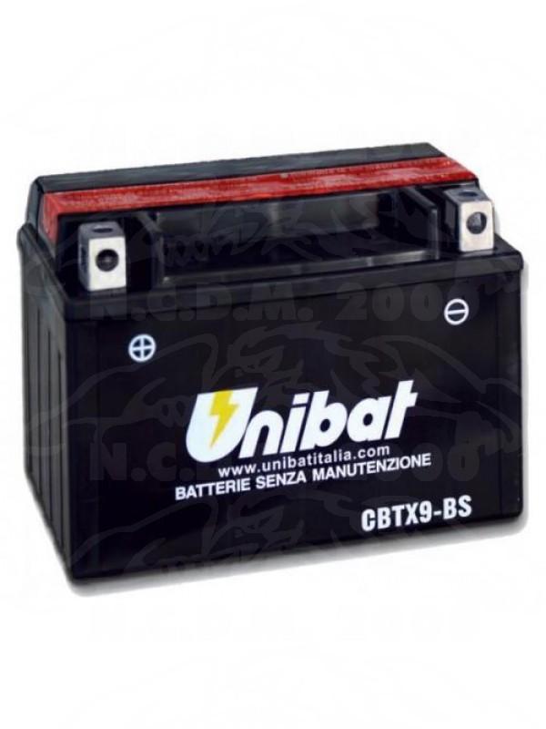 BATTERIA UNIBAT CBTX9-BS =YUASA YTX9-BS