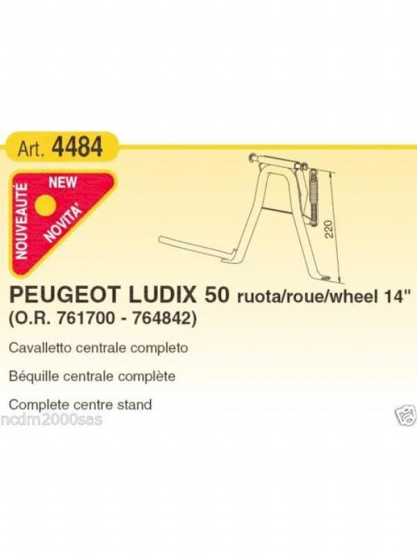 """4484 BUZZETTI 761700 CAVALLETTO CENTRALE COMPLETO PEUGEOT LUDIX RUOTA 12-14"""" 50"""