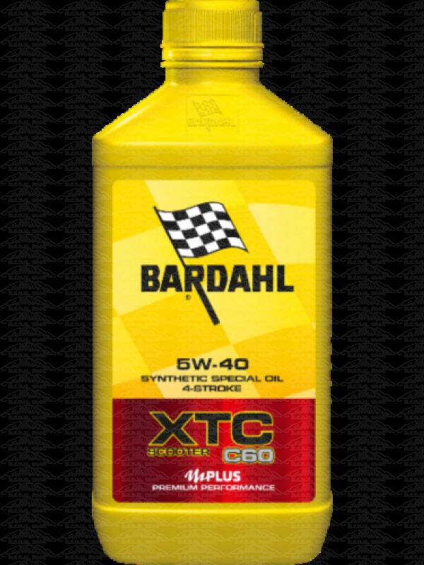 1 LITRO OLIO MOTORE MOTO SCOOTER 4t Bardahl Bardhal XTC C60 5W40 100% SINTETICO