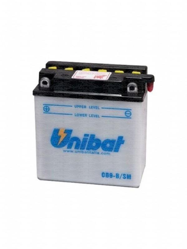 BATTERIA UNIBAT CB9-B = YUASA YB9-B COMPLETA DI SOLUZIONE INTERNA PER Batteria Moto/Scooter