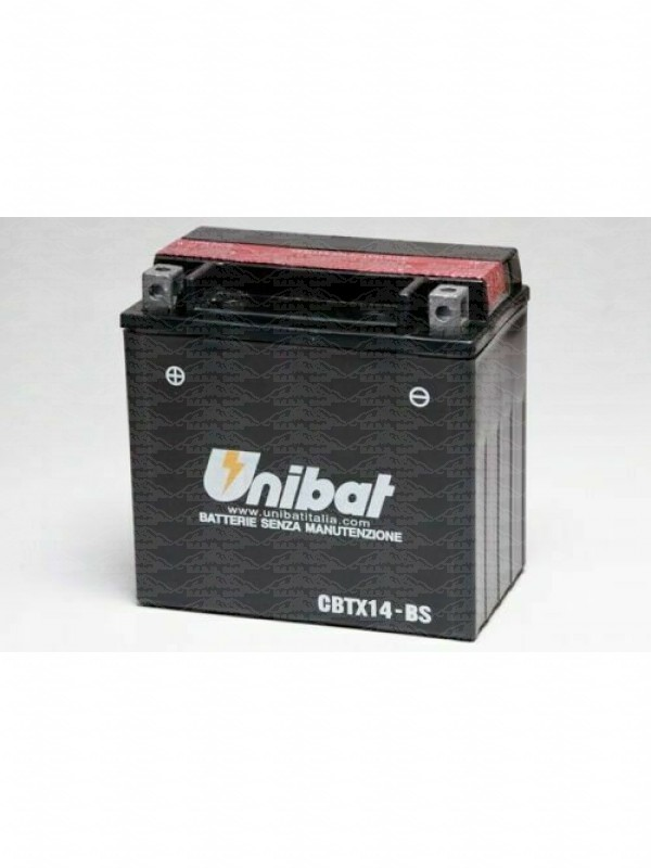 Unibat CBTX14-BS = YTX14-BS 12V 12Ah Batteria per Moto-Scooter
