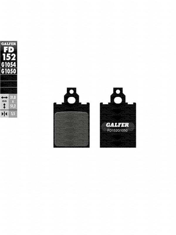 PASTIGLIA FRENO SCOOTER/VESPA ANTERIORE GALFER CAGIVA-GILERA-PIAGGIO-LML FD152G1050